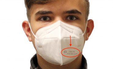 Achten Sie beim Kauf einer FFP2-Maske auf CE-Zeichen und Prüfnummer